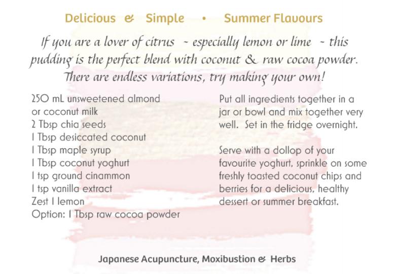 Cocunut and Chia Pudding Recipe